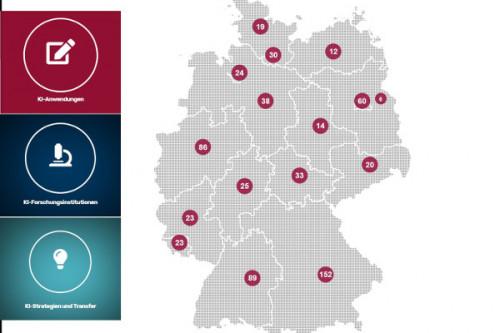 KI-Landkarte Deutschland