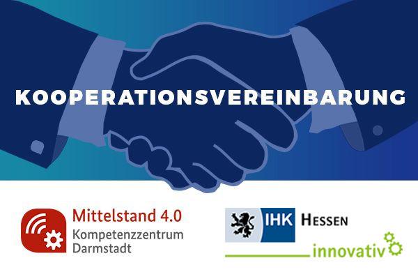 Handschlag: Kooperation mit IHK Hessen innovativ