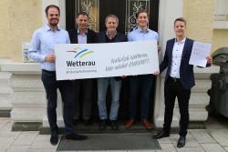 v.l.n.r.: Tobias Meudt, Klaus Karger, Bernd-Uwe Domes, Maximilian Meister und Oliver Schmidt