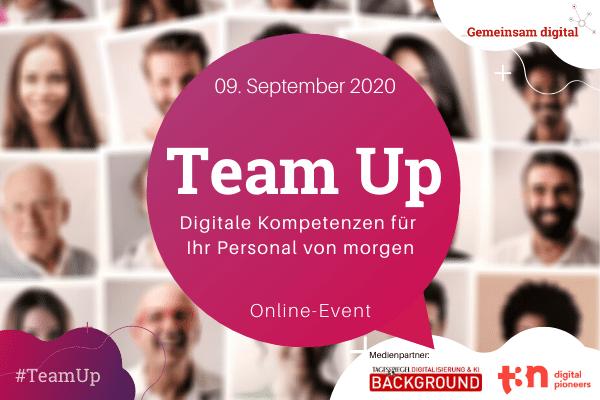 Team-up, digitale Kompetenzen