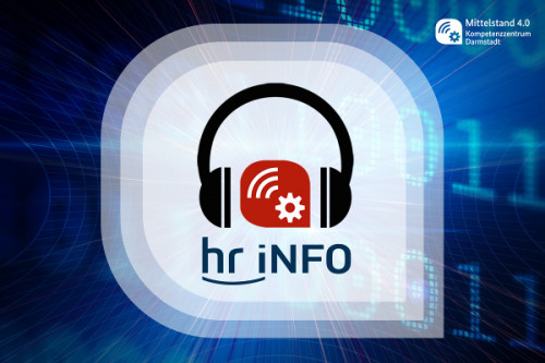 hr-iNFO Logo mit Kopfhörern
